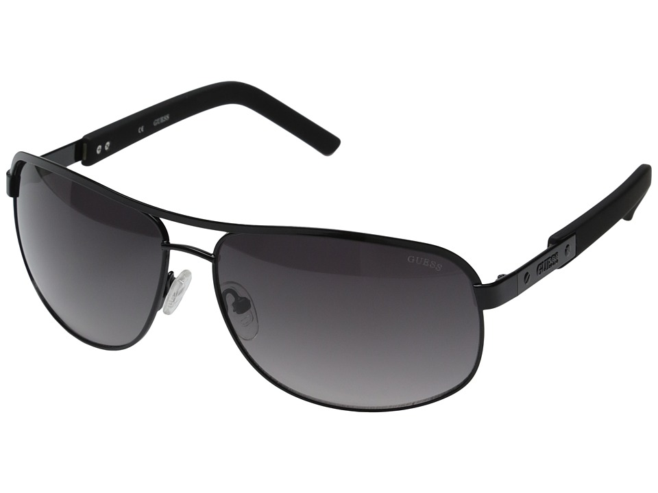 GUESS - GU6800 (Black/Gradient Smoke Lens) Fashion Sunglasses