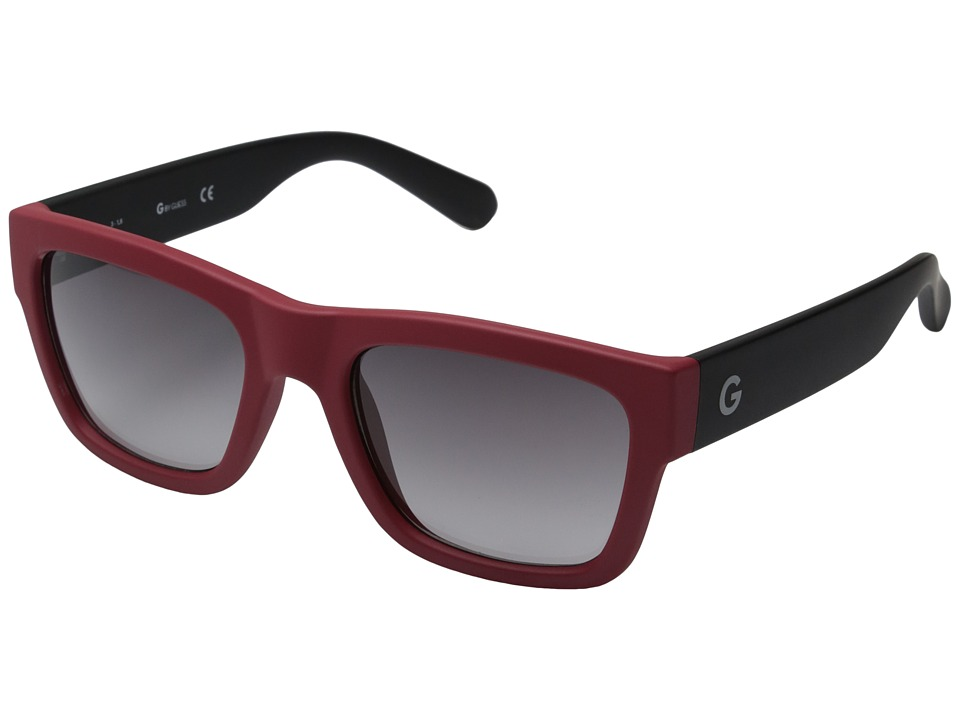 GUESS - GG2106 (Matte Red/Smoke Gradient Lens) Fashion Sunglasses
