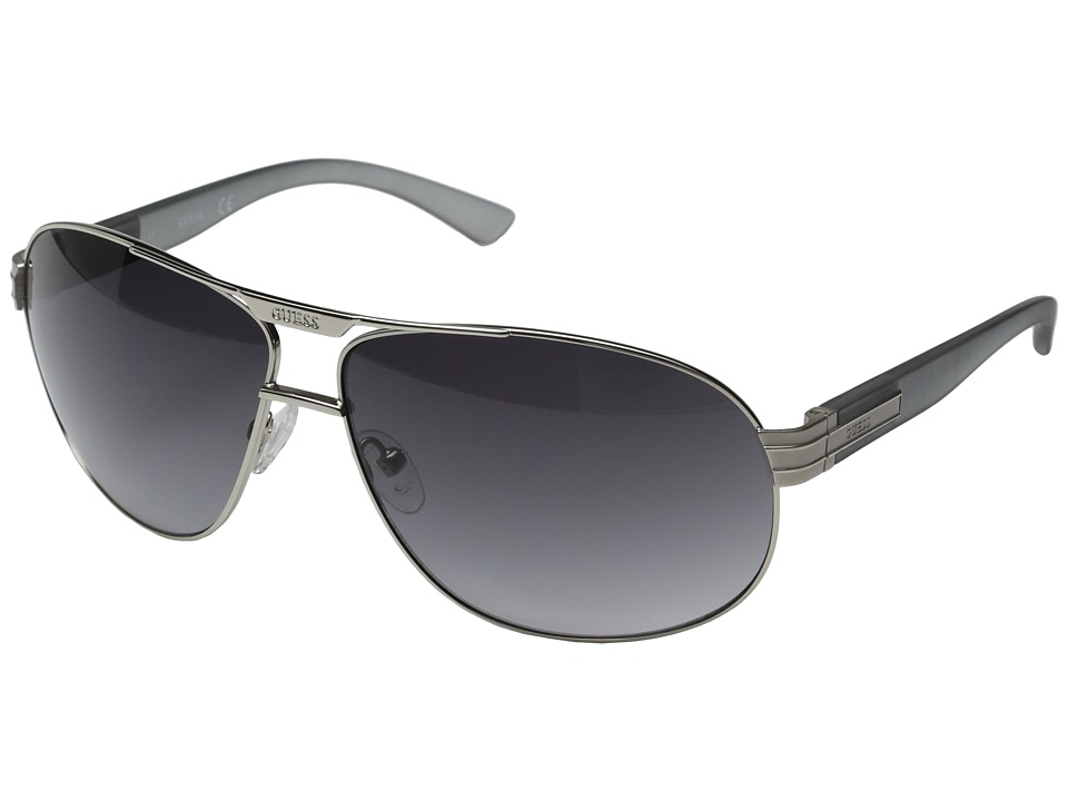 GUESS - GF0155 (Silver/Smoke Gradient Lens) Fashion Sunglasses