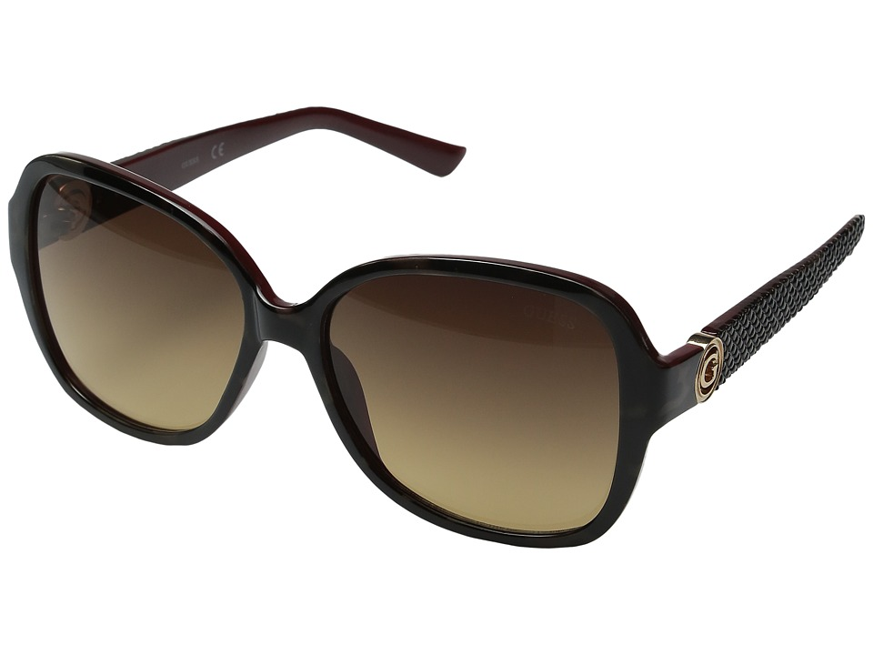 GUESS - GF0275 (Havana/Brown Gradient Lens) Fashion Sunglasses