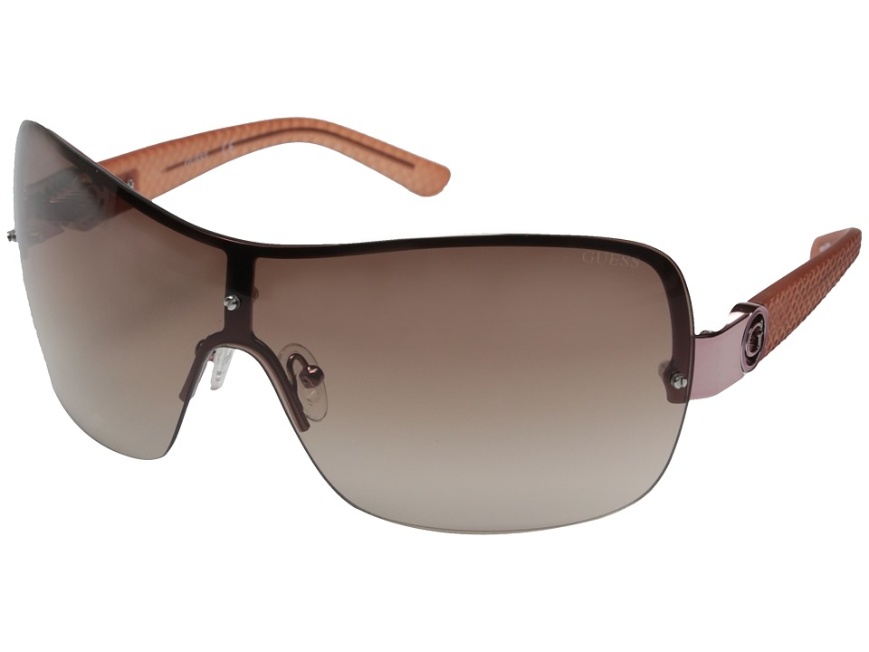 GUESS - GF0274 (Rose Gold/Brown Gradient Lens) Fashion Sunglasses