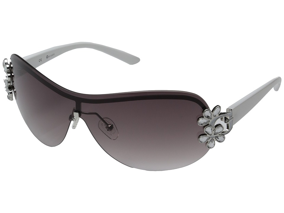 GUESS - GGU111 (Silver/Dark Smoke Gradient Lens) Fashion Sunglasses