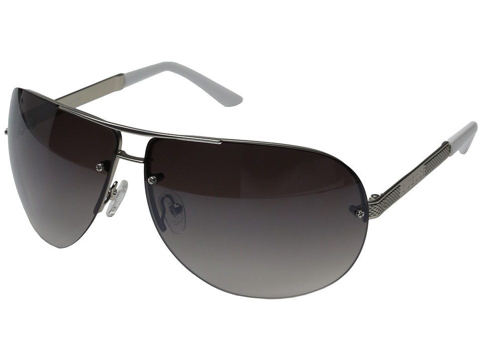 GUESS - GU6593 (Silver/Gradient Smoke Flash Lens) Fashion Sunglasses