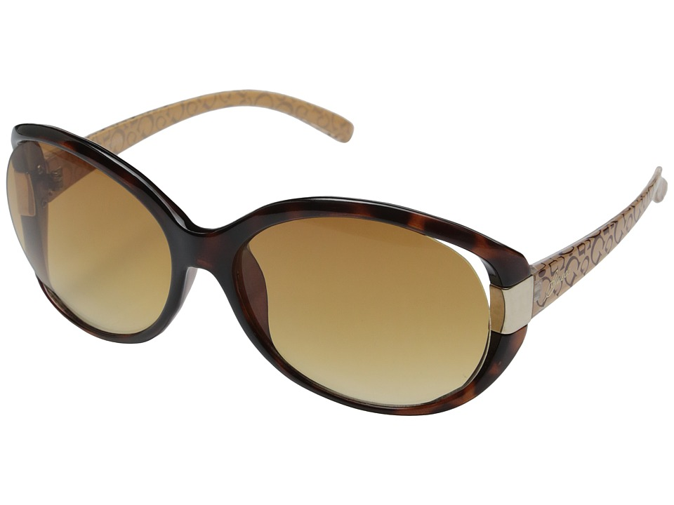 GUESS - GU0214F (Tortoise/Gradient Brown Lens) Fashion Sunglasses