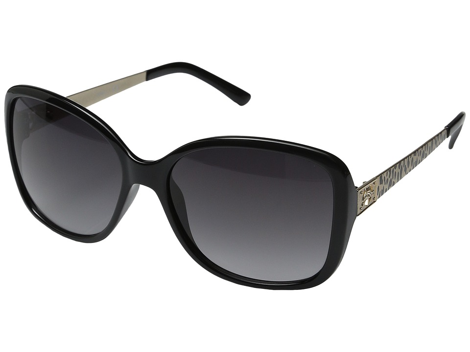 GUESS - GU7144 (Black/Smoke Gradient Lens) Fashion Sunglasses