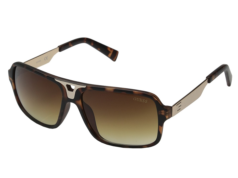 GUESS - GF0157 (Havana/Brown Gradient Lens) Fashion Sunglasses