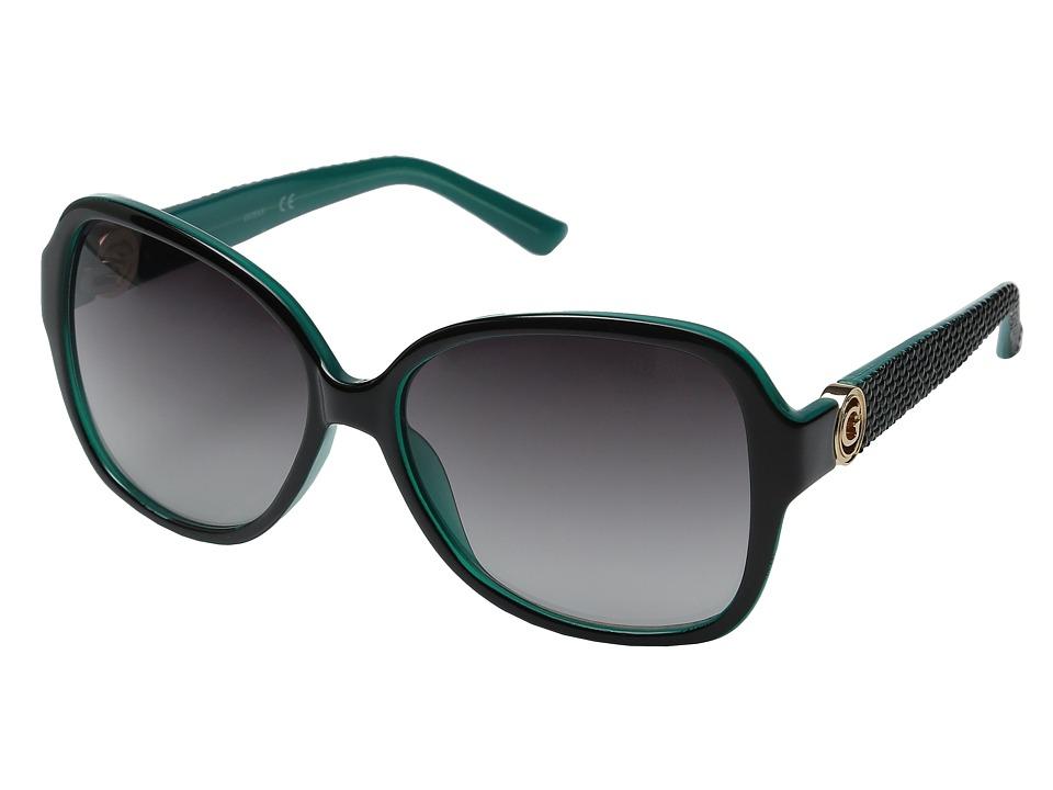 GUESS - GF0275 (Black/Teal/Smoke Gradient Lens) Fashion Sunglasses