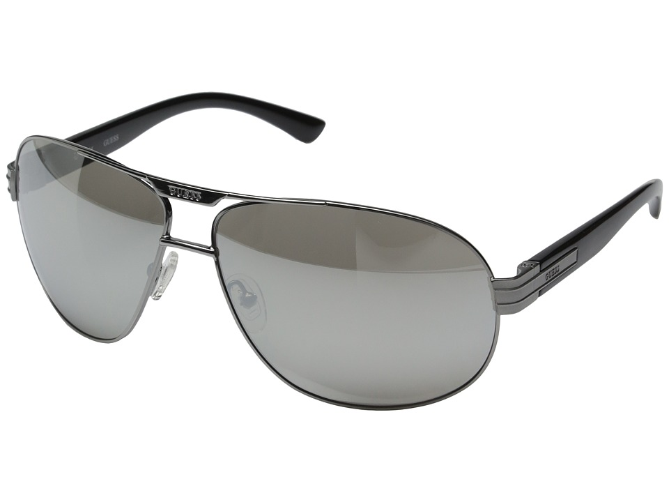 GUESS - GF0155 (Gunmetal/Smoke Mirror Lens) Fashion Sunglasses