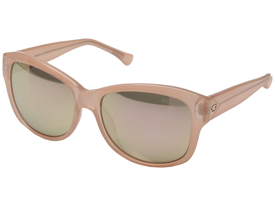GUESS - GF0259 (Pink/Brown Mirror Lens) Fashion Sunglasses
