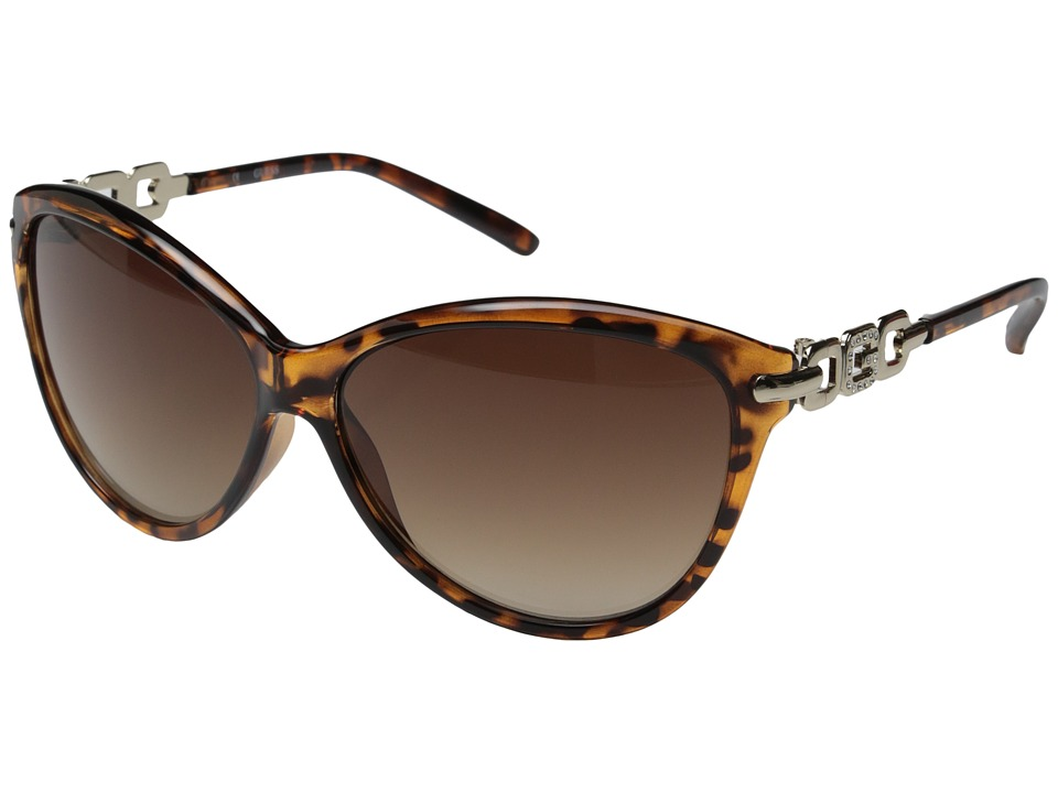 GUESS - GU7288 (Havana/Brown Gradient Lens) Fashion Sunglasses