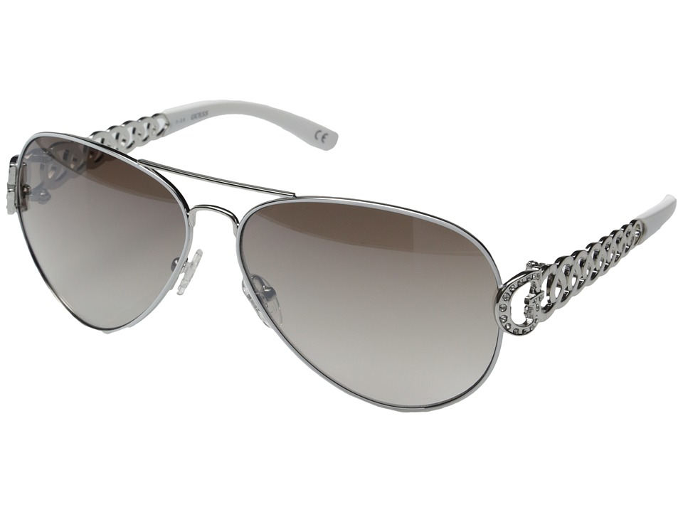GUESS - GU7255 (Silver/Smoke Gradient Flash Lens) Fashion Sunglasses