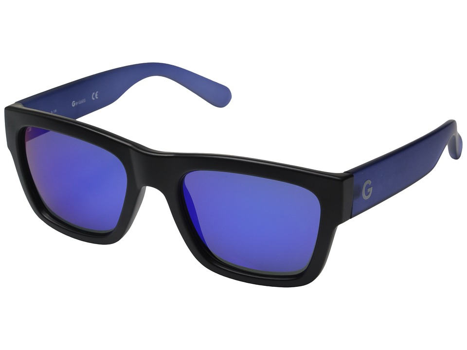 GUESS - GG2106 (Matte Black/Blue Mirror Lens) Fashion Sunglasses
