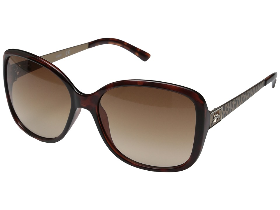 GUESS - GU7144 (Havana/Brown Gradient Lens) Fashion Sunglasses