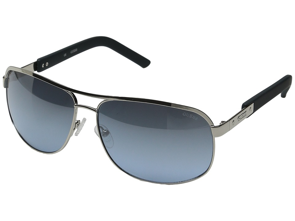 GUESS - GU6800 (Satin Silver/Grey/Blue Gradient Flash) Fashion Sunglasses