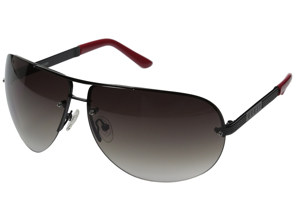 GUESS - GU6593 (Black/Gradient Smoke Lens) Fashion Sunglasses