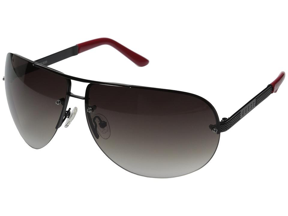 GUESS - GU6593 (Black/Gradient Smoke Lens) Fashion Sunglasses