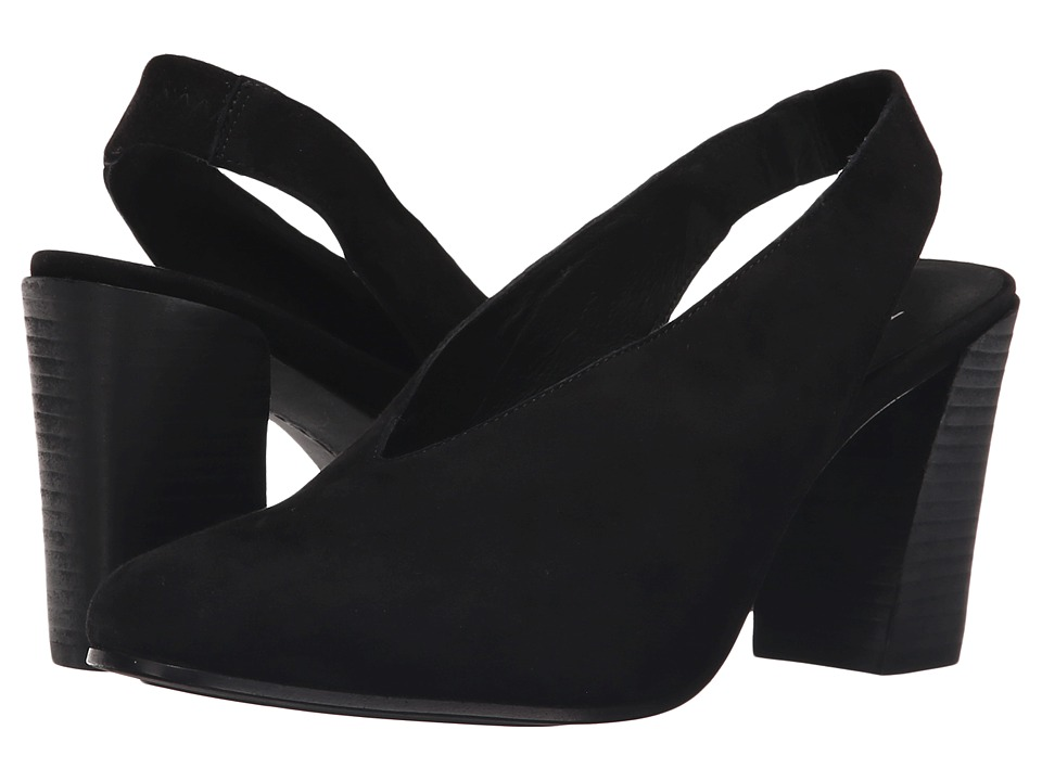 Eileen Fisher - Laurel (Black Suede) Women's Sling Back Shoes