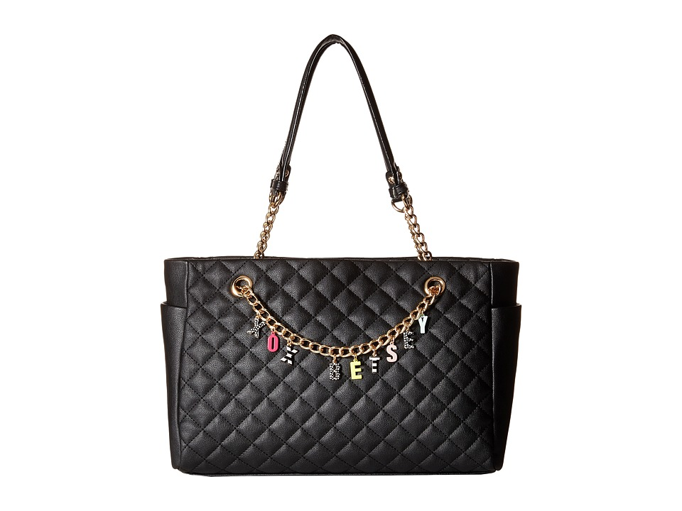 Betsey Johnson - Give Me A B! Satchel (Black) Satchel Handbags