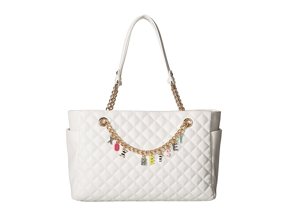 Betsey Johnson - Give Me A B! Satchel (White) Satchel Handbags