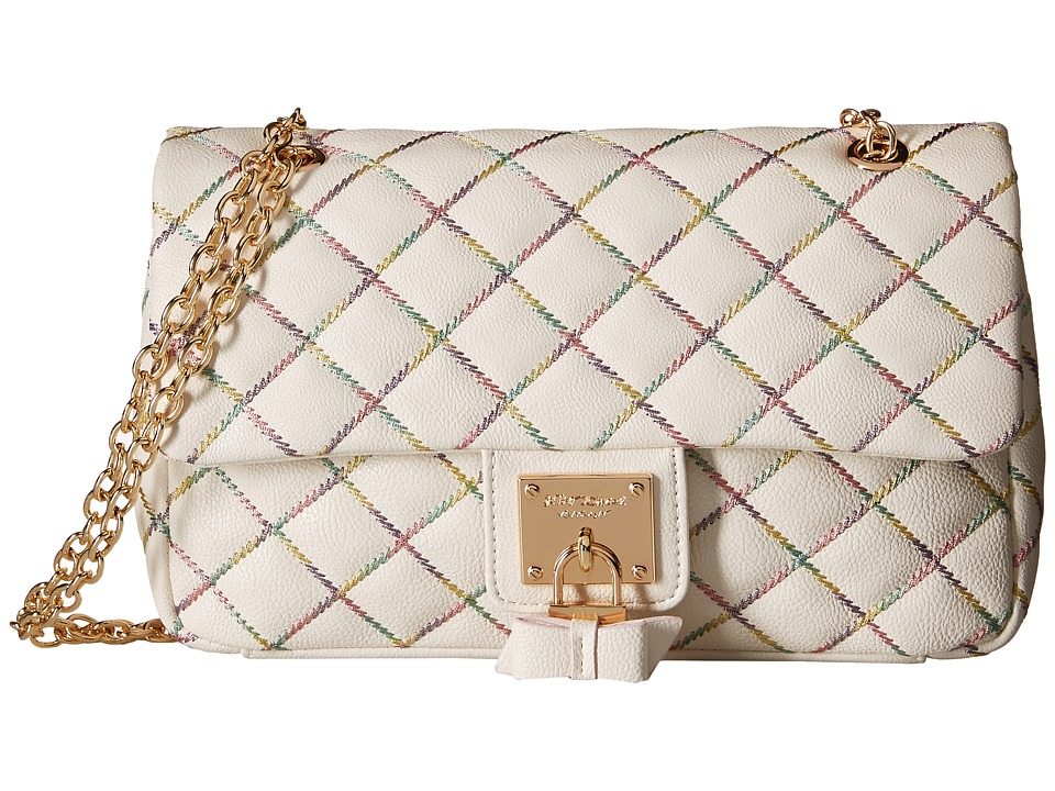 Betsey Johnson - Cotton Candy Flapover (Cream) Handbags