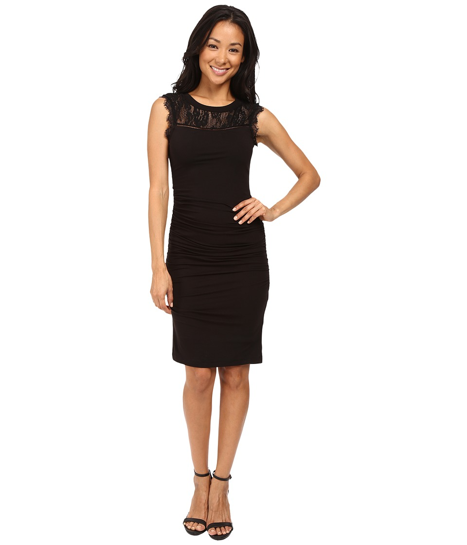 KUT from the Kloth - Lace and Knit Dress (Black) Women's Dress