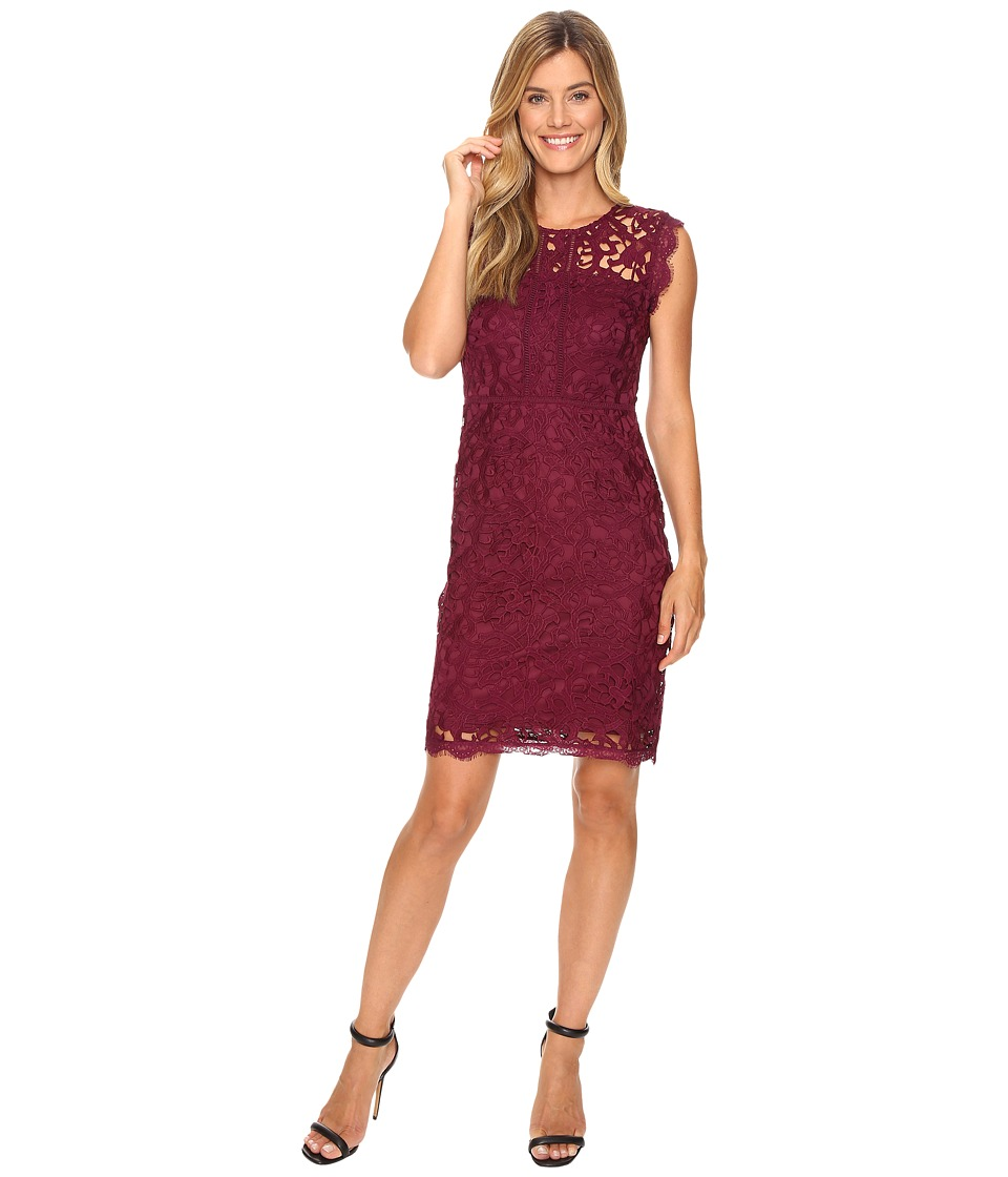 KUT from the Kloth - Full Lace Dress (Wine) Women's Dress