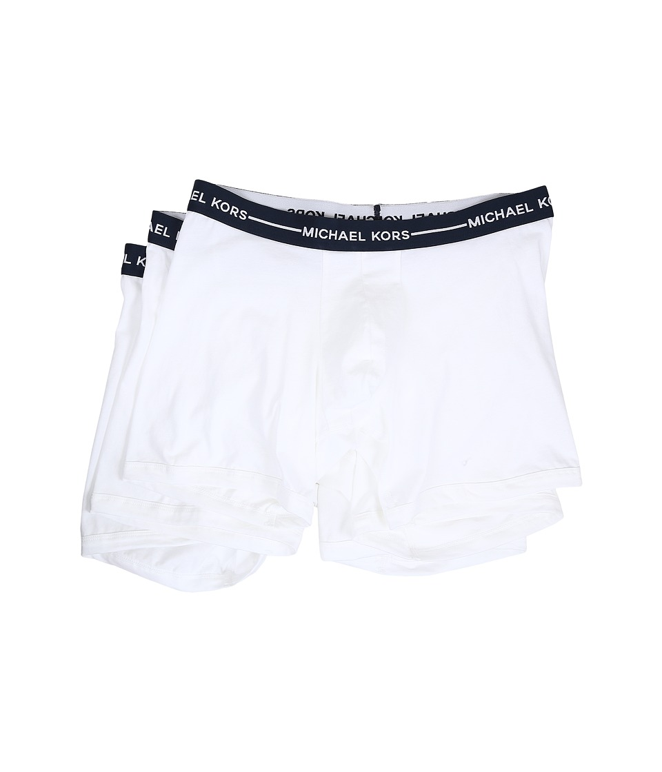 Michael Kors - Ultimate Cotton Stretch Boxer Brief 3-Pack (White) Men's Underwear