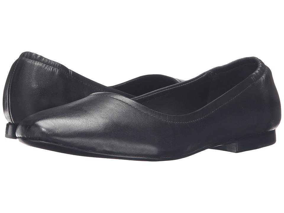 Bernardo - Dina (Black Vintage Calf) Women's Flat Shoes
