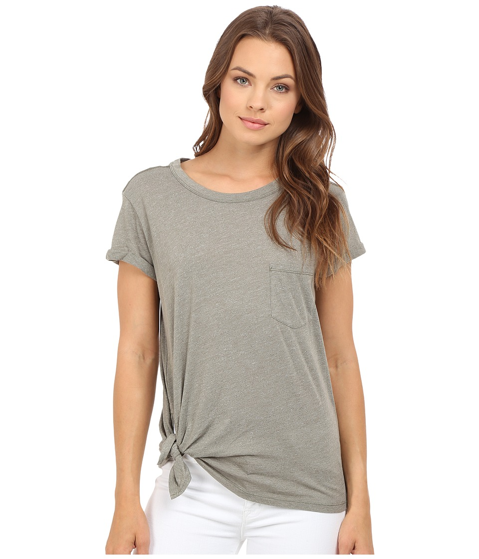 G-Star - Rovi Short Sleeve Pocket Tee in Lightweight Yeki Jersey (Ensis Green Heather) Women's T Shirt
