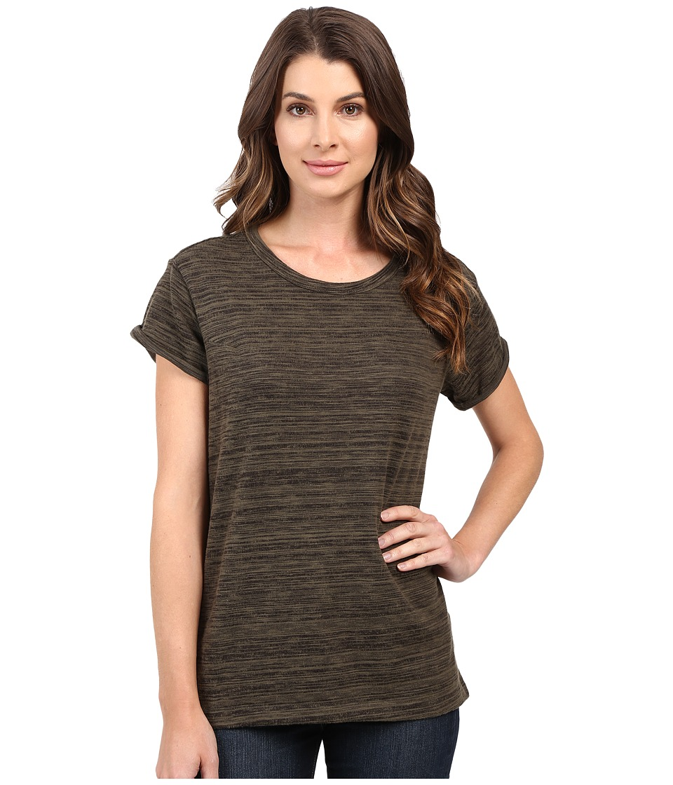 G-Star - Tigoni Loose Short Sleeve Tee in Brushed Carbon Jersey (Asfalt) Women's T Shirt