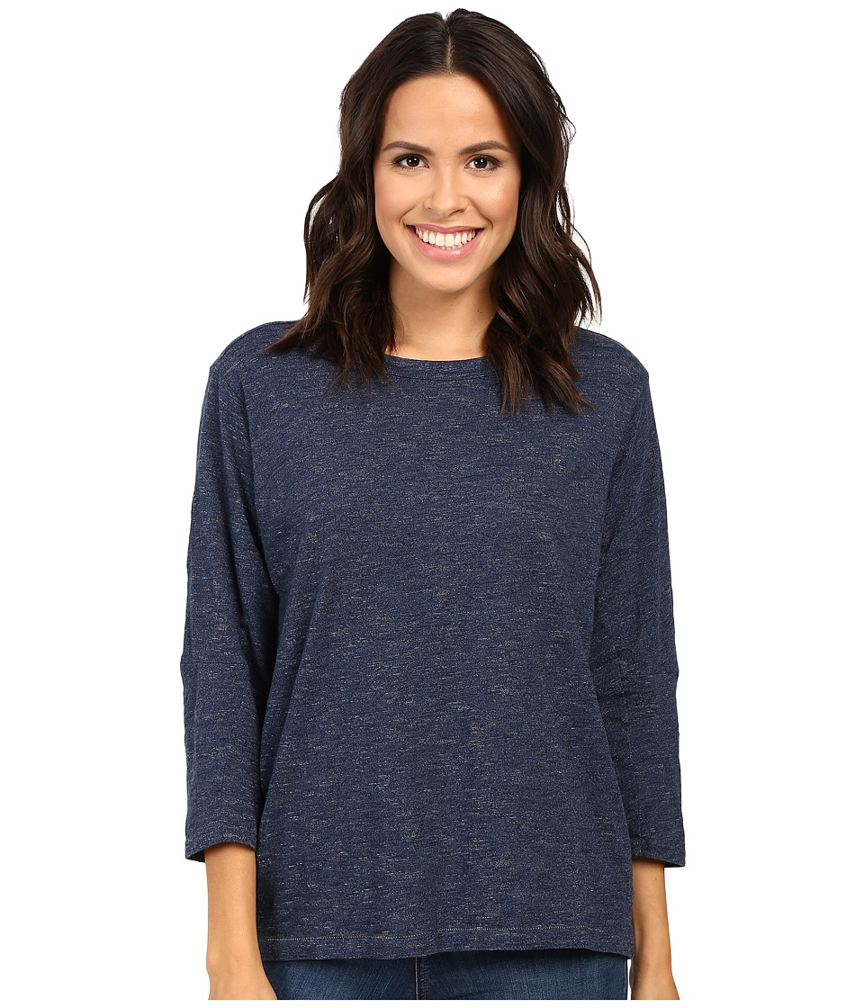 G-Star - Qanka Sports Long Sleeve Tee in Lightweight Indigo Krano Stripe (Dark Aged Stripe) Women's T Shirt