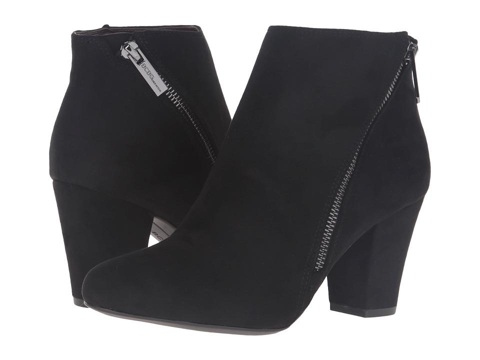 BCBGeneration - Dorien (Black/Gunmetal Suede Stretch) Women's Zip Boots