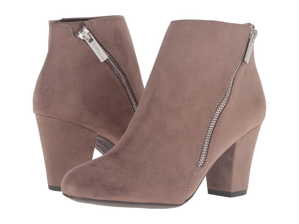 BCBGeneration - Dorien (Taupe Suede Stretch) Women's Zip Boots