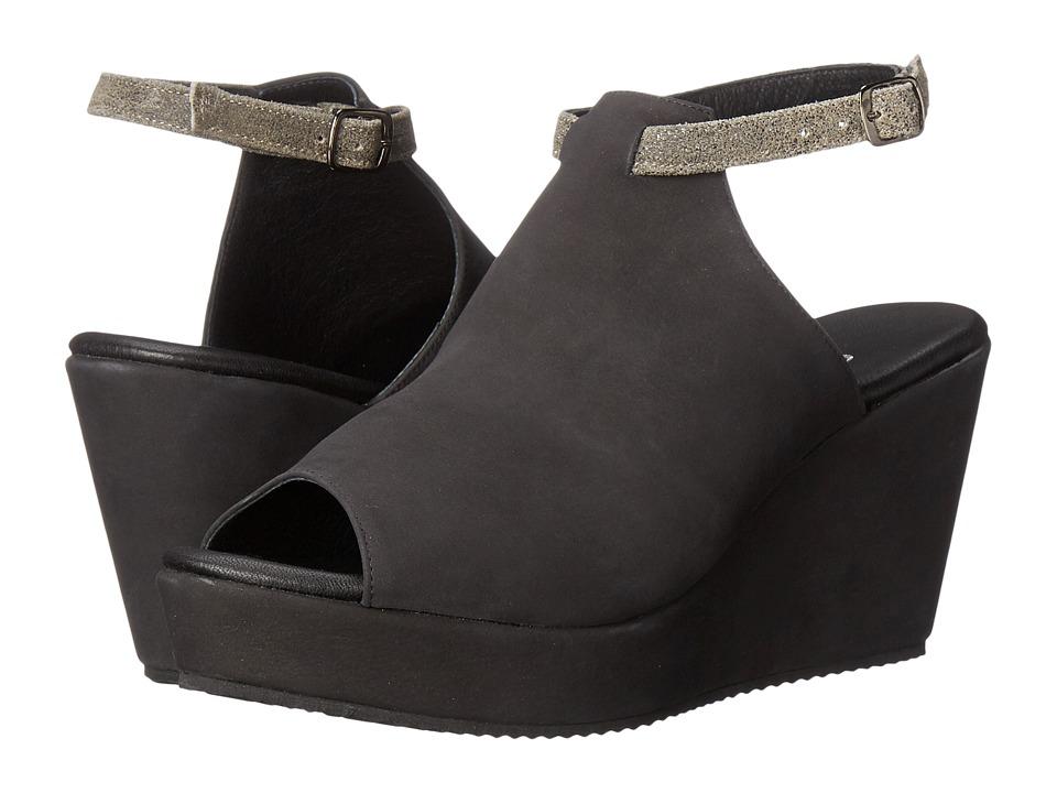 Cordani - Fina (Black Nubuck) Women's Wedge Shoes