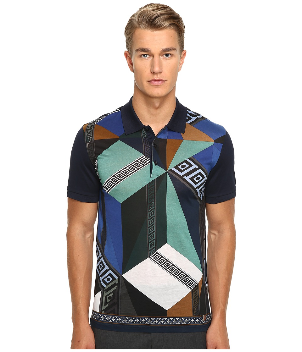 Versace Collection - Printed Polo (Multi) Men's Clothing