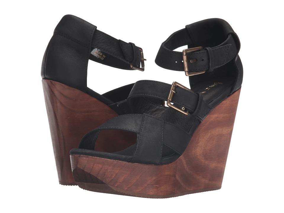 Cordani - Decla (Black Nubuck) Women's Wedge Shoes