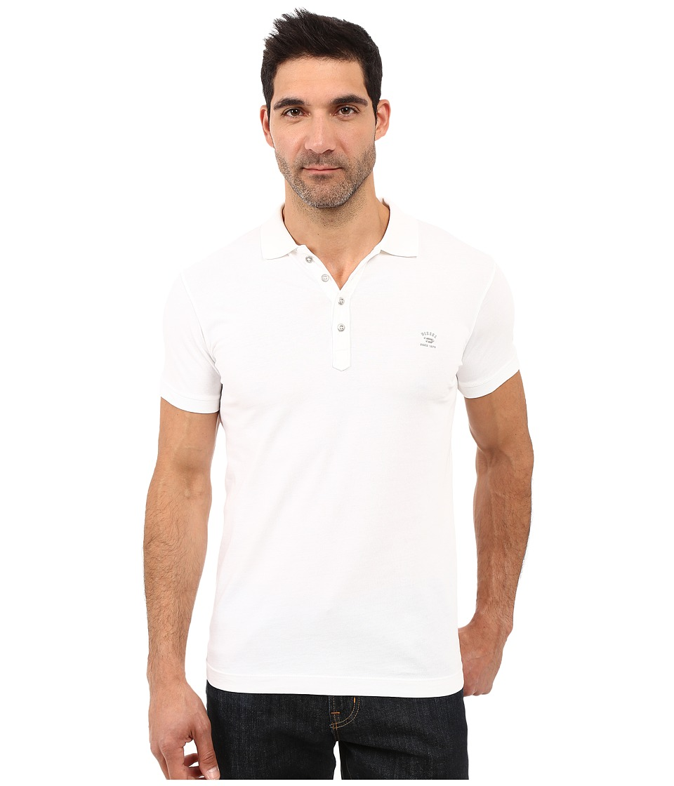 Diesel - T-Eels Shirt (White) Men's Clothing