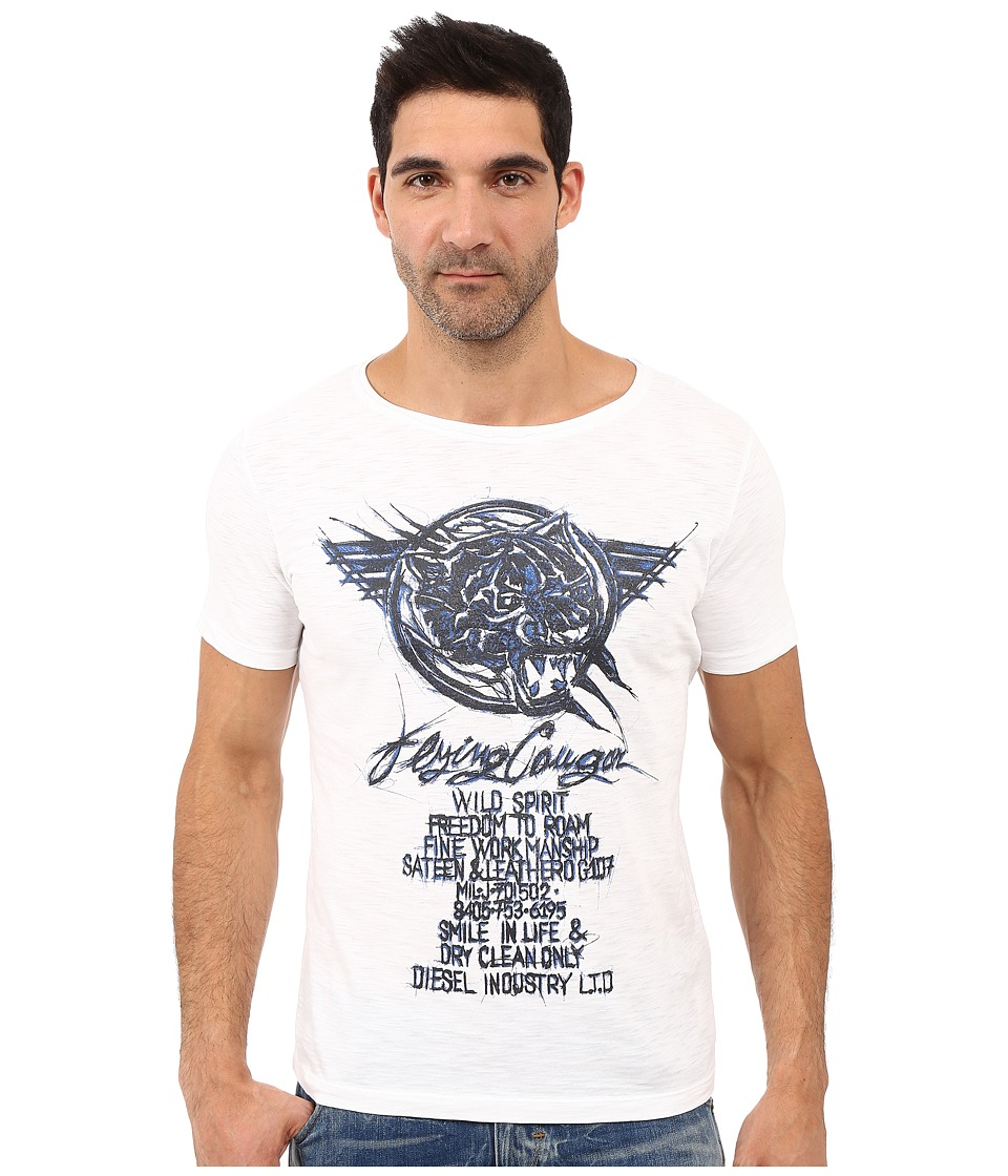 Diesel - T-Joe-Dc-G T-Shirt (White) Men's T Shirt