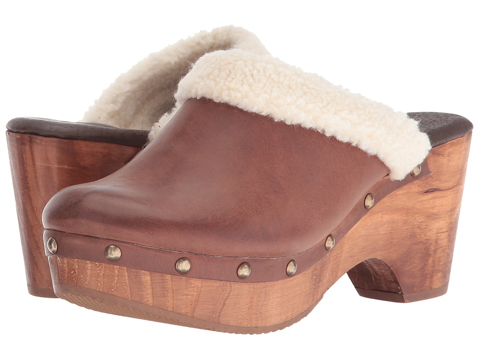 Cordani - Zorba-2 (Brown Brushed Leather/Fur) Women's Clog Shoes