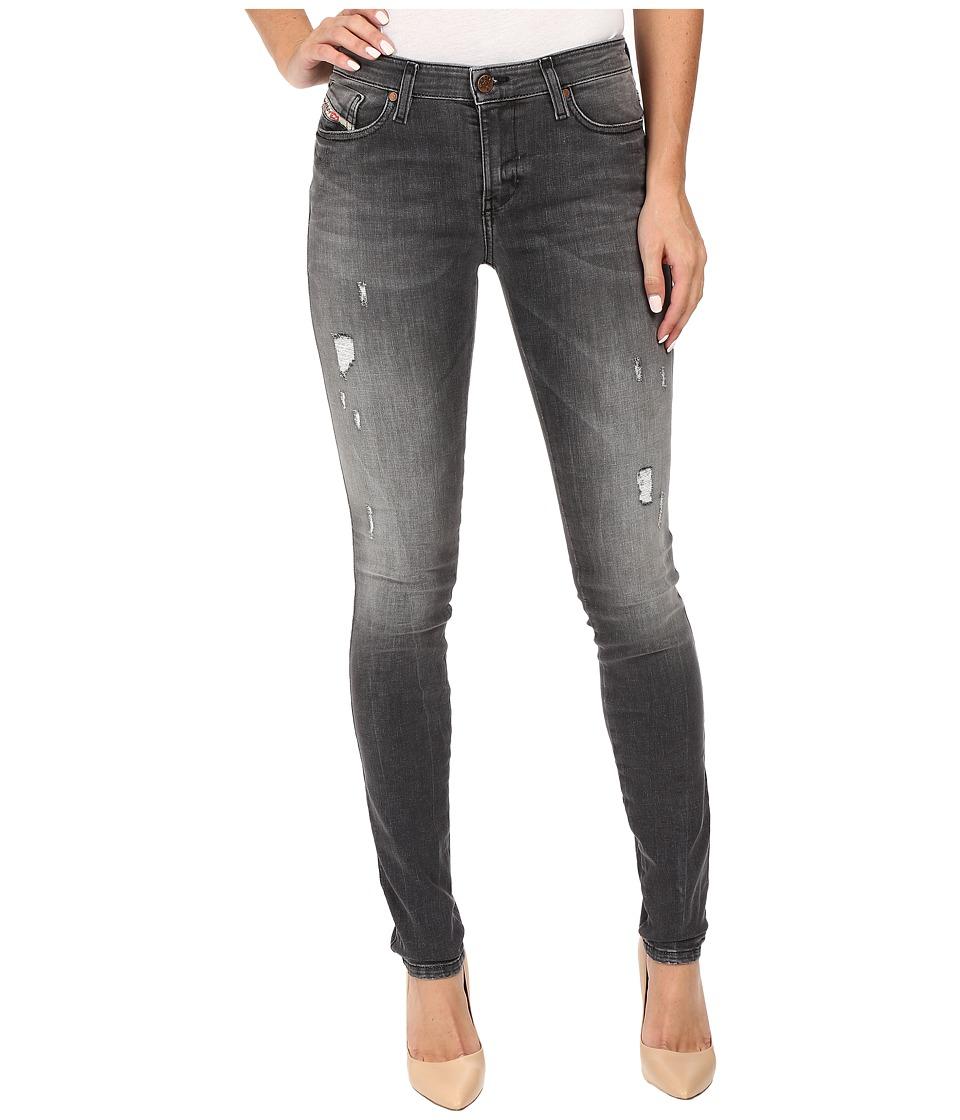 Diesel - Skinzee Trousers 675I (Black/Denim) Women's Jeans