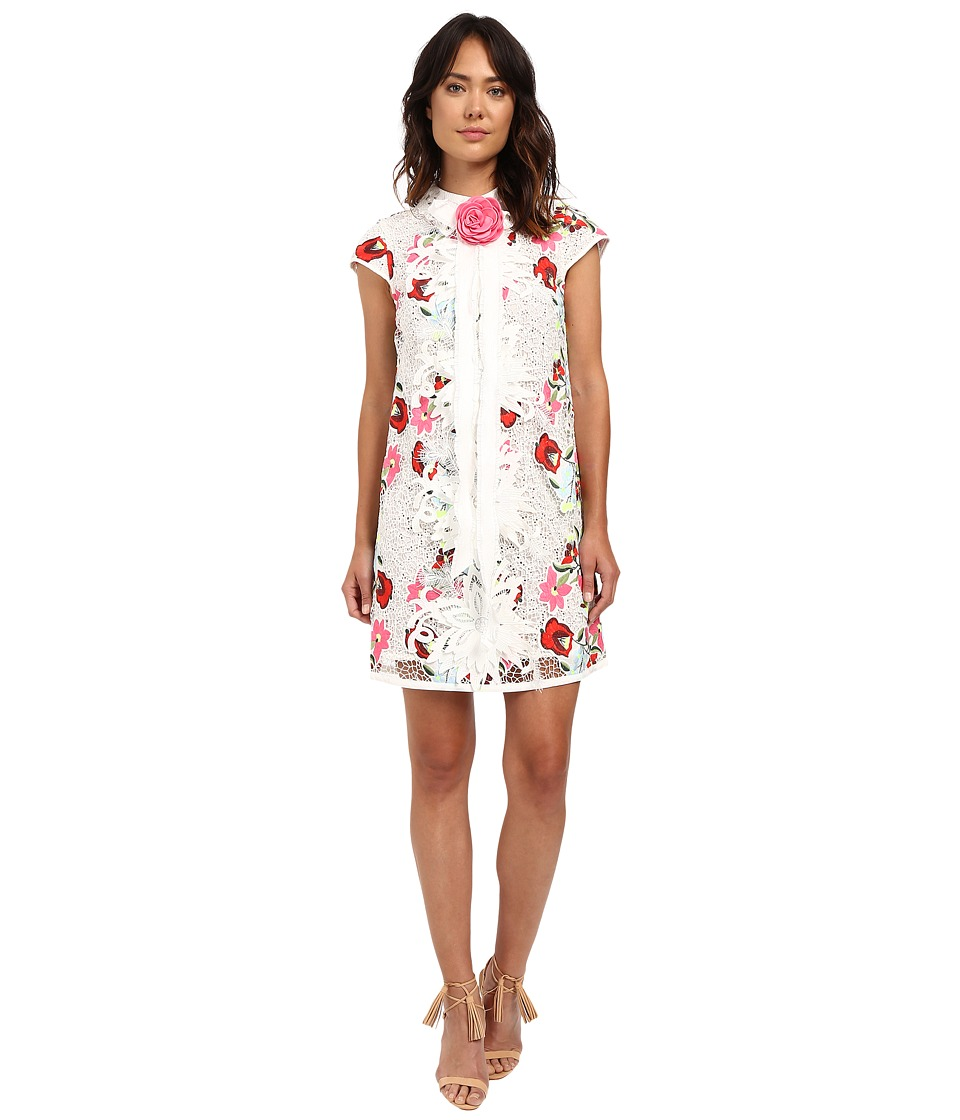 LOVE Binetti - Lover Boy Dress (White/Floral) Women's Dress