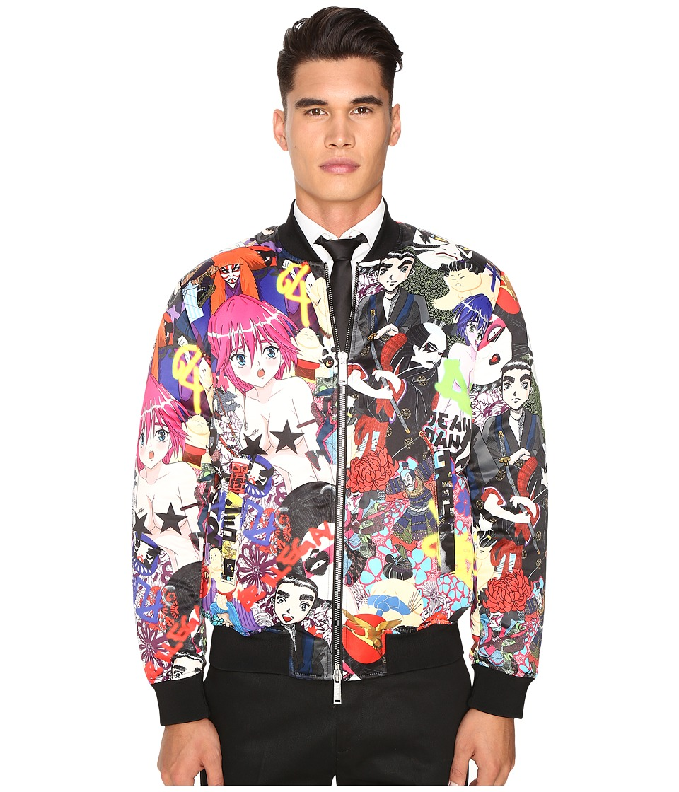 DSQUARED2 - All Over Printed Manga Puff Bomber (Mix Colours) Men's Coat