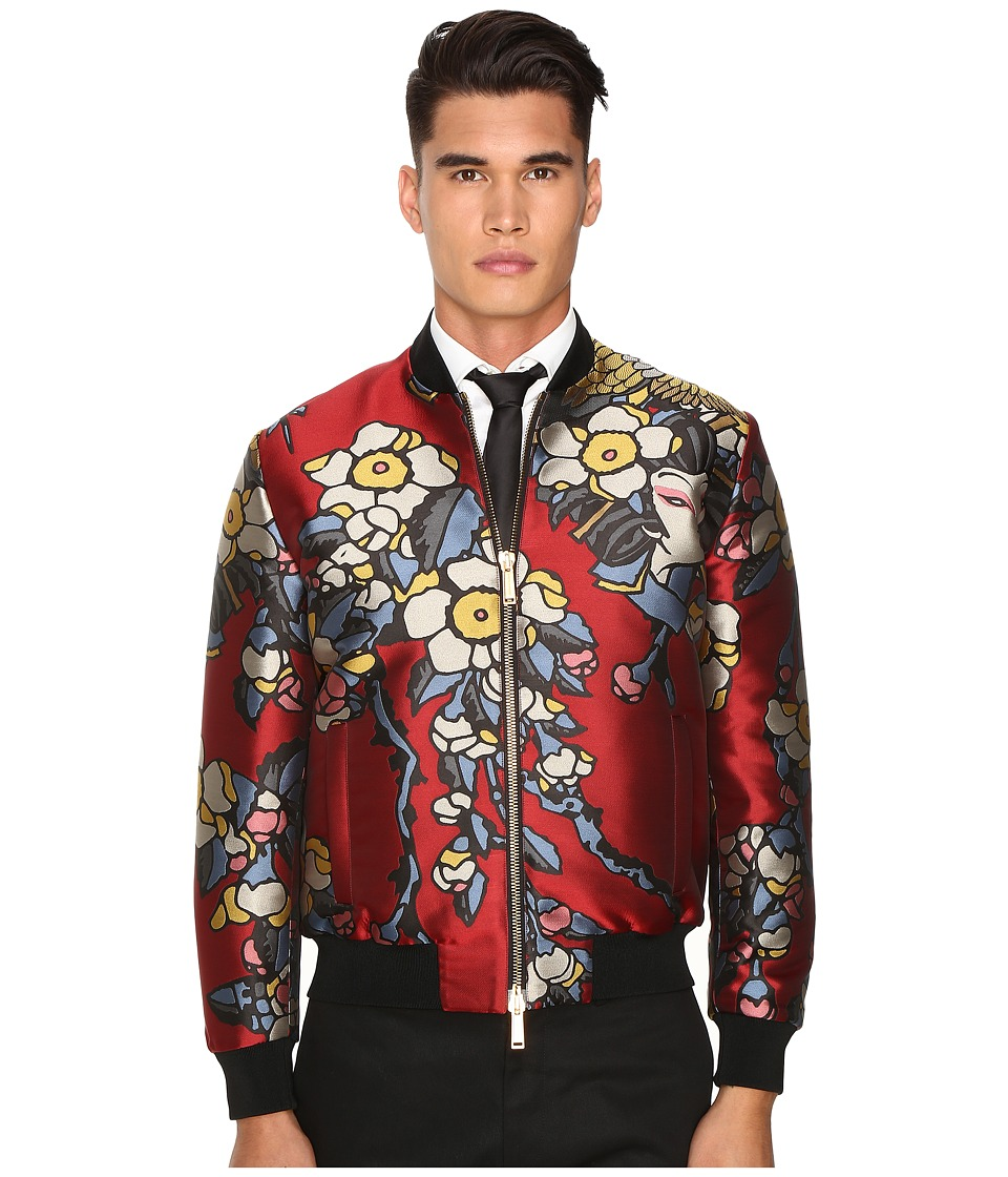 DSQUARED2 - Cherry Blossom Bomber (Bordeaux) Men's Coat
