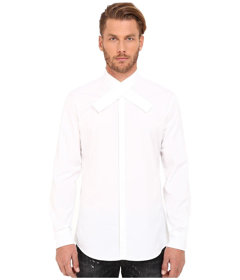 DSQUARED2 - Kimono Collar Relax Dan Shirt (White) Men's Clothing