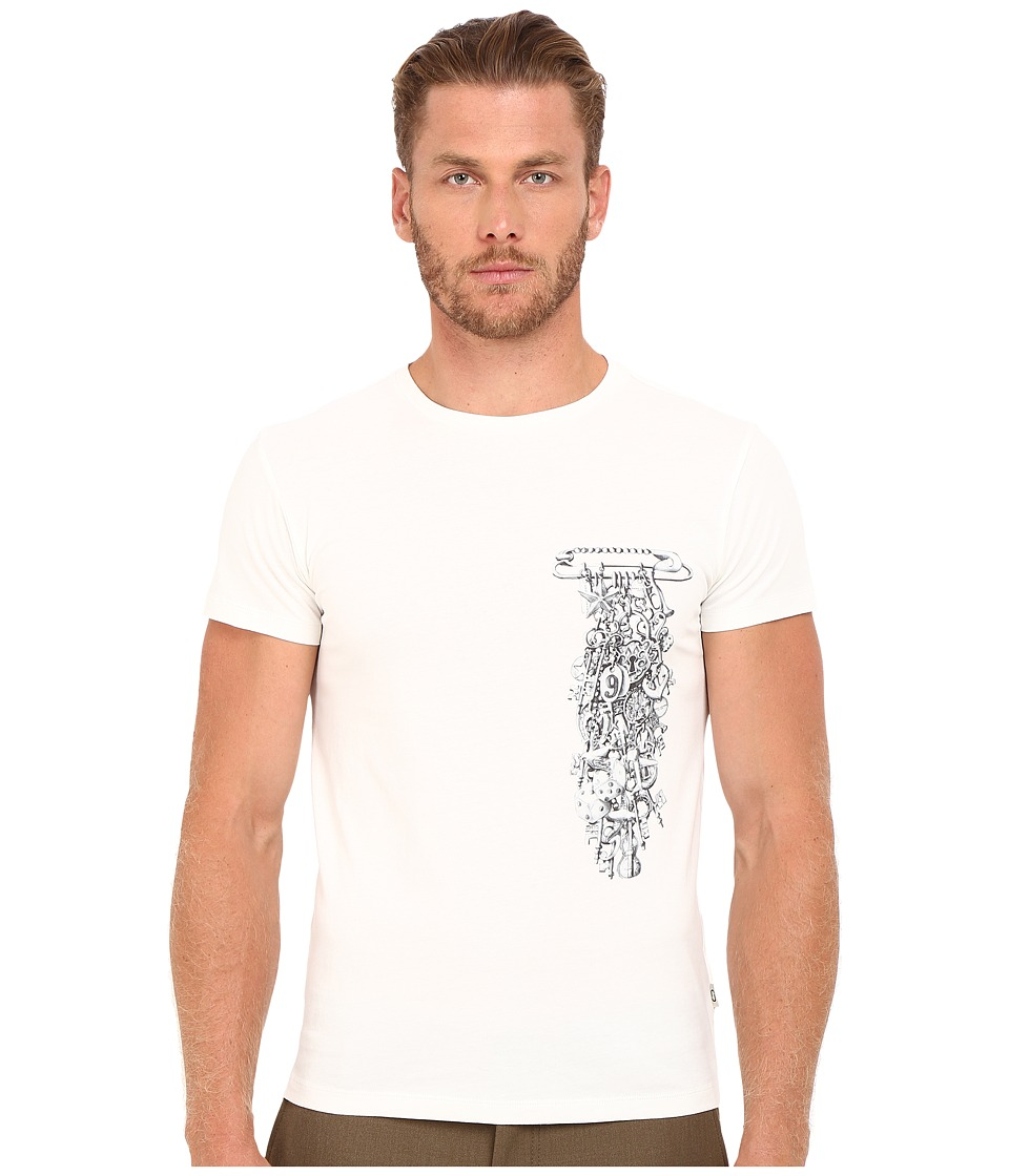 Marc Jacobs - Slim Fit Classic Jersey Tee (Snow White) Men's T Shirt