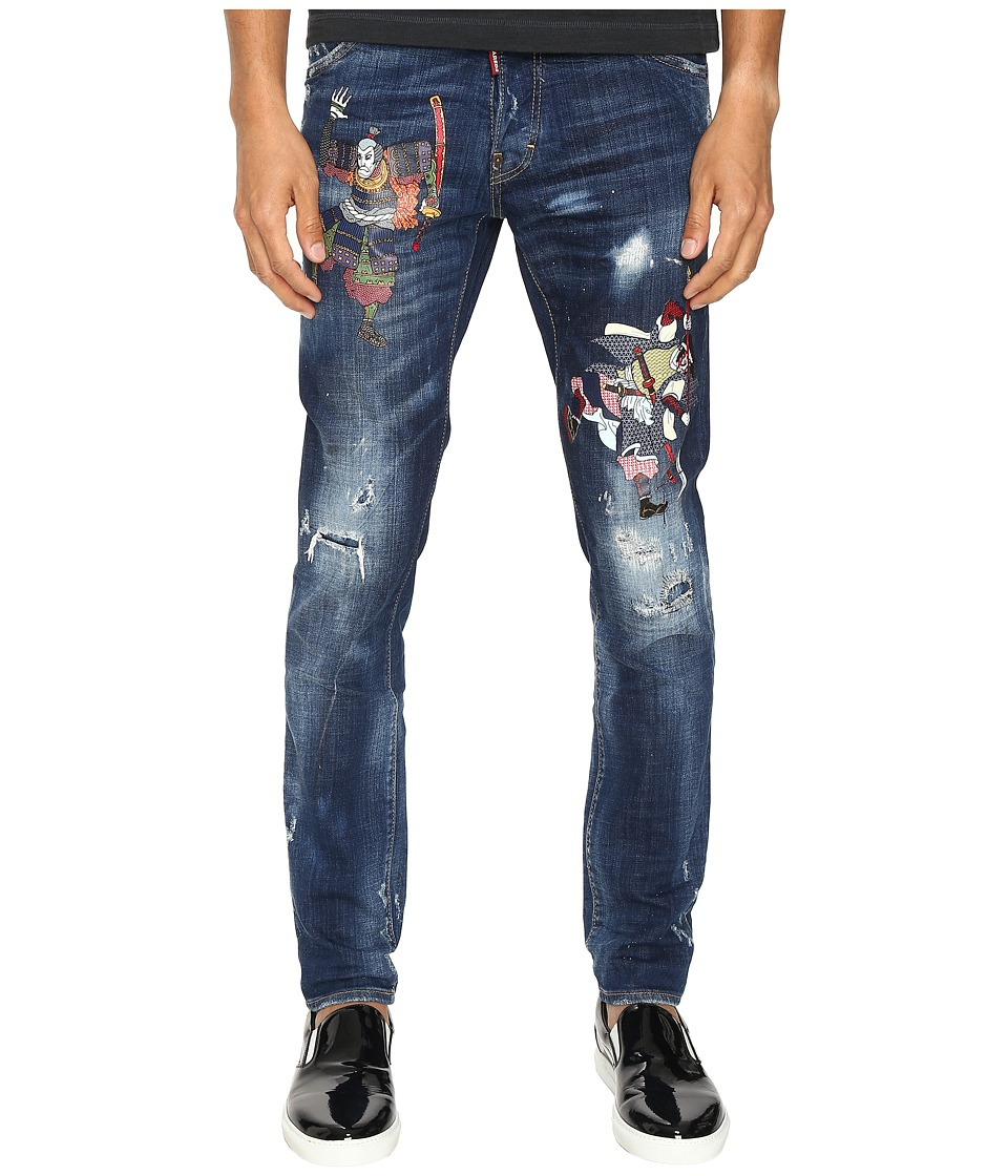 DSQUARED2 - Warm Samauri Cool Guy Jeans (Blue) Men's Jeans