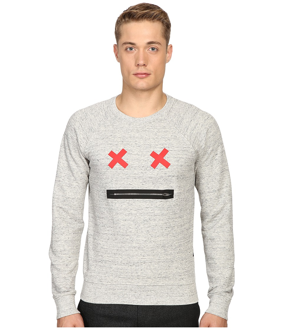 Marc Jacobs - Slim Fit French Terry Sweater (Grey Melange) Men's Sweater