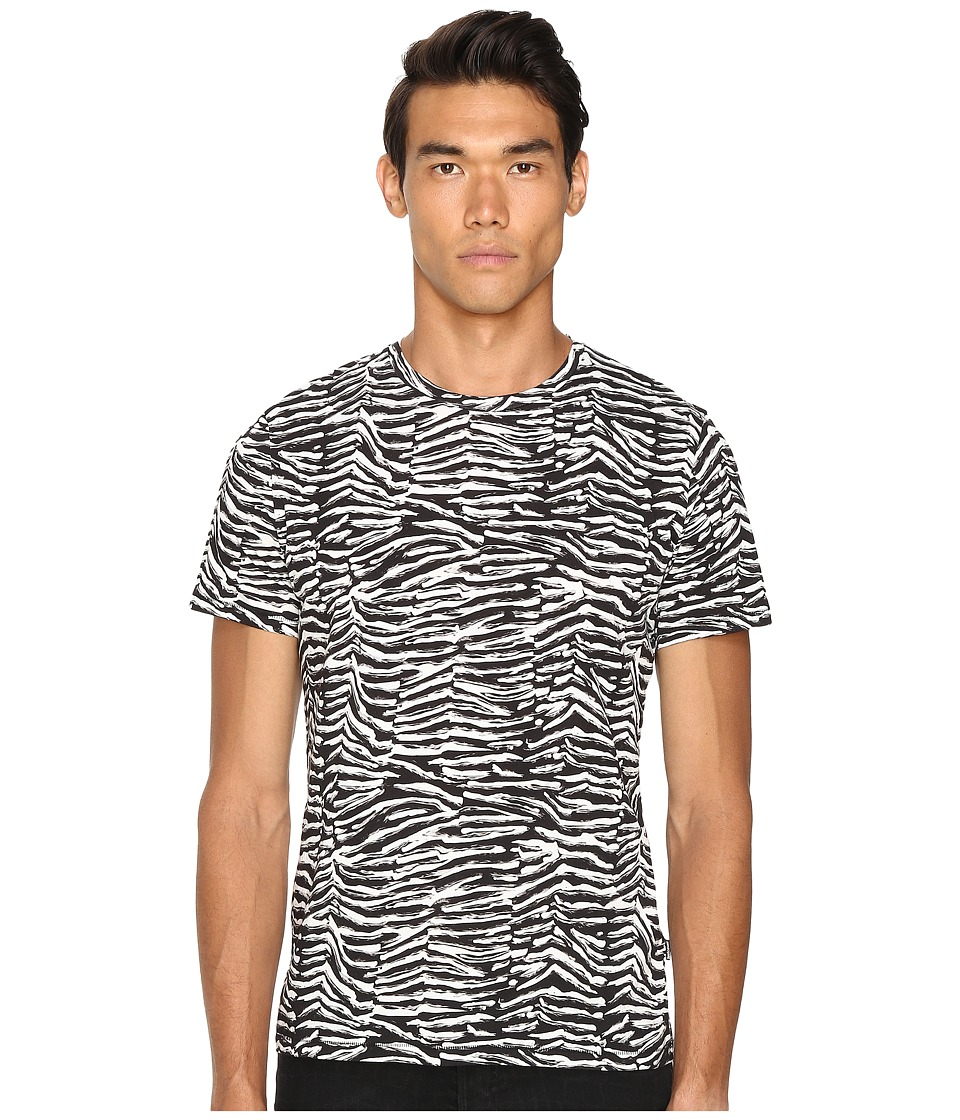 Just Cavalli - Slim Fit Zebra Vibe Printed T-Shirt (Black Variant) Men's T Shirt