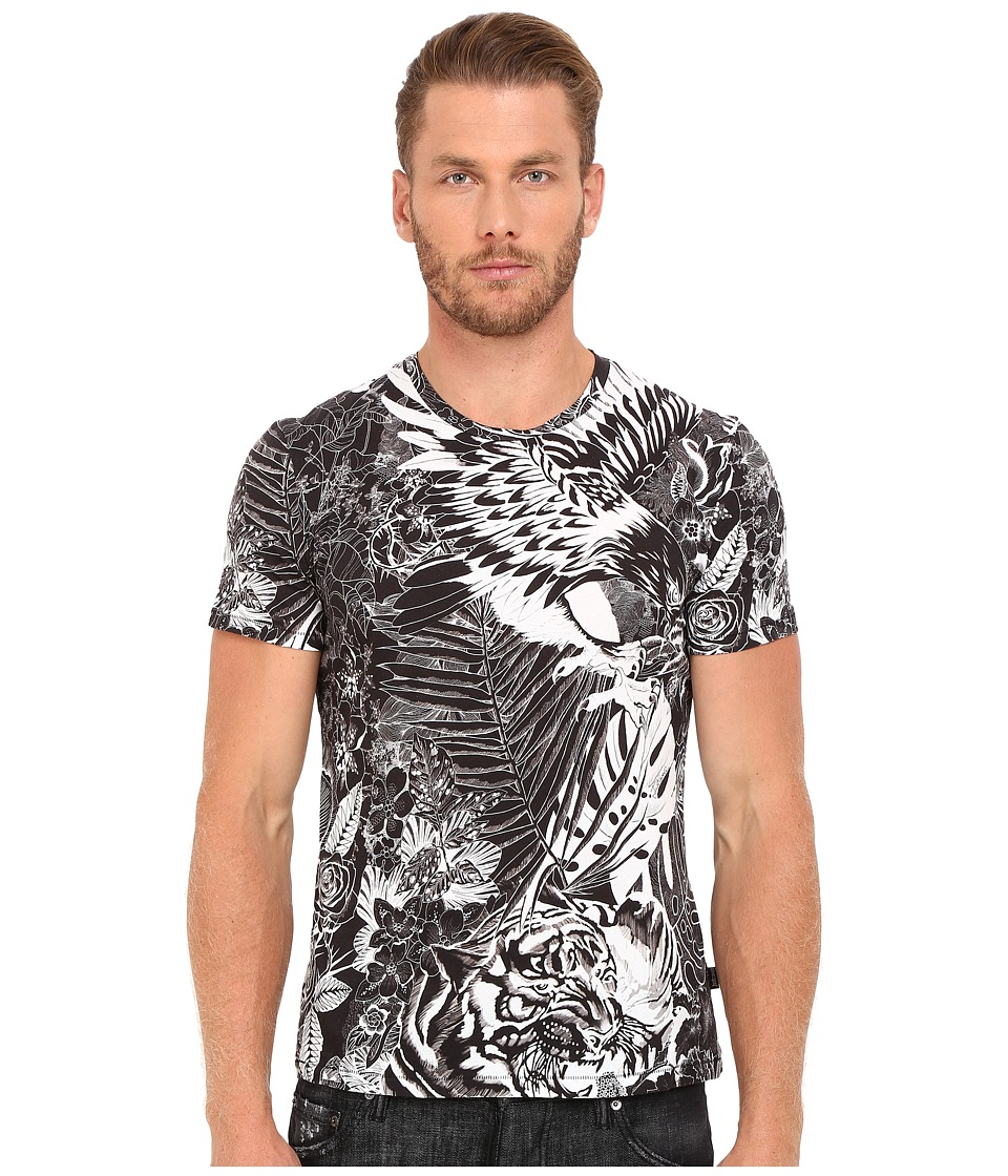 Just Cavalli - Slim Fit Jungle Tattoo Printed T-Shirt (Black Variant) Men's T Shirt