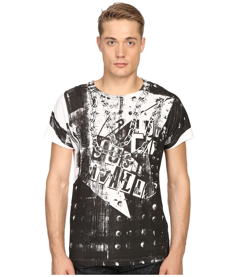 Just Cavalli - Regular Fit Jersey T-Shirt (White) Men's T Shirt